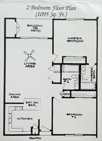 Floor Plan for Oasis #504